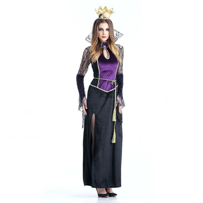 Halloween Scary Costumes Cosplay Spider Vampire Queen witch Costume Fantasia Women Sexy Fantasias Fancy Dress purple_M