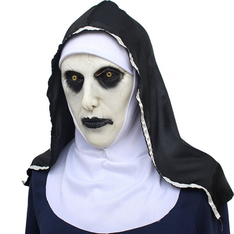 Halloween Nun Mask Full Head Cosplay Costume