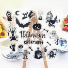 Halloween Series DIY Transparent Silicone Clear Stamps Scrapbooking Album Cards Decor 14x14cm