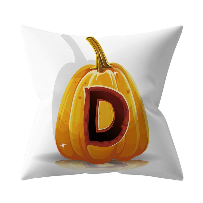 Halloween Series Letter Printing Throw Pillow Cover for Home Living Room Sofa Decor D_45*45cm