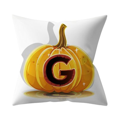 Halloween Series Letter Printing Throw Pillow Cover for Home Living Room Sofa Decor G_45*45cm