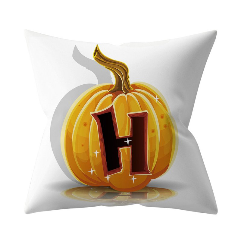 Halloween Series Letter Printing Throw Pillow Cover for Home Living Room Sofa Decor H_45*45cm
