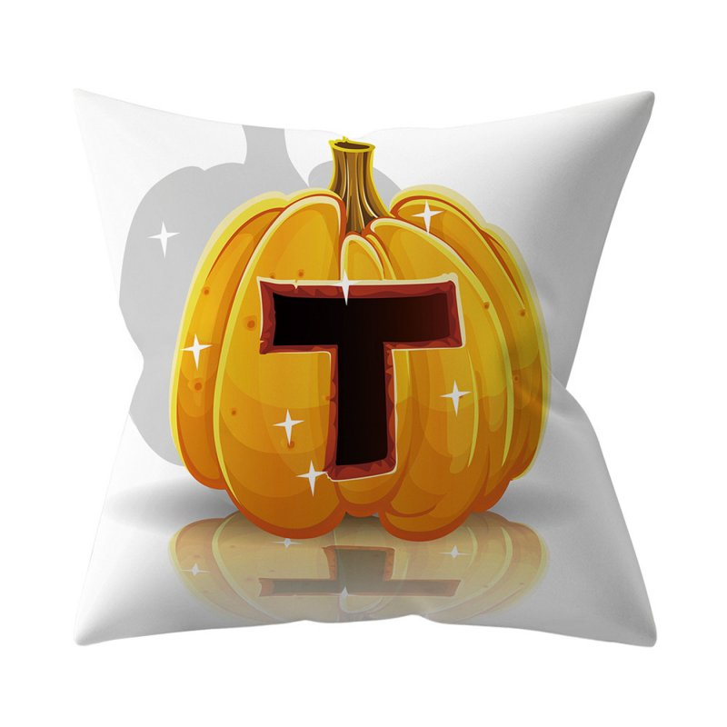 Halloween Series Letter Printing Throw Pillow Cover for Home Living Room Sofa Decor T_45*45cm