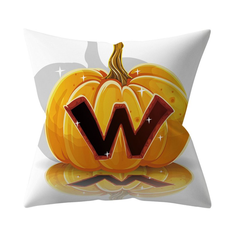 Halloween Series Letter Printing Throw Pillow Cover for Home Living Room Sofa Decor W_45*45cm