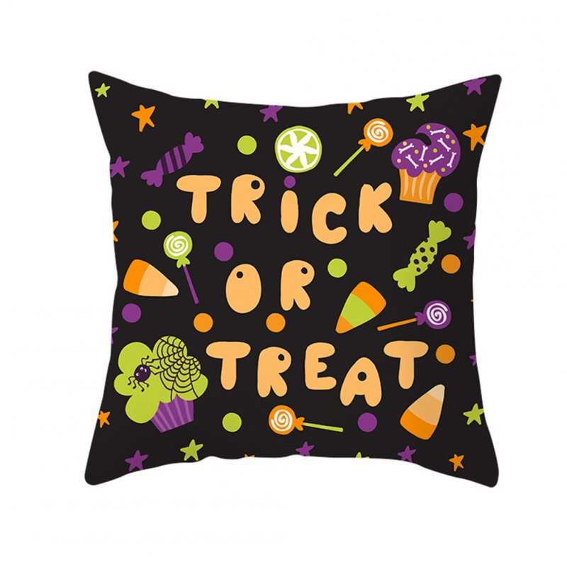 Halloween Series Orange Geometric Pillow Cover Home Party Decoration TPR184-15_45*45cm (without pillow)