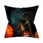 Halloween Series Pattern Throw Pillow Cover for Sofa Living Room Supplies 13#_45*45cm