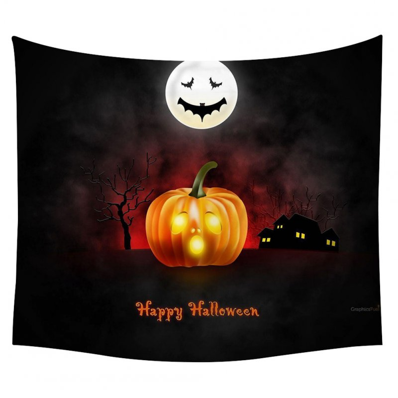 Halloween Series Printing Trick Treat Wall Hanging Tapestry Home Decor Party Decoration 8#_150*130cm