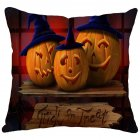 Halloween Series Printing Linen Cotton Throw Pillow Cover for Office Car 10#_45*45cm