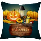 Halloween Series Printing Linen Cotton Throw Pillow Cover for Office Car 31  45 45cm
