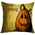 Halloween Series Printing Linen Cotton Throw Pillow Cover for Office Car 36#_45*45cm