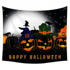 Halloween Series Printing Trick Treat Wall Hanging Tapestry Home Decor Party Decoration 3#_150*130cm
