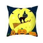 Halloween Series Pumpkin/Black Cat Printing Throw Pillow Cover Decor for Home Party TPR181-32_45*45cm (without pillow)