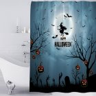 Halloween Series Waterproof Printing Shower Curtain for Bathroom Decoration Halloween - Ghost_180*180cm