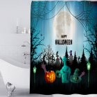 Halloween Series Waterproof Printing Shower Curtain for Bathroom Decoration Halloween - Pumpkin_180*180cm