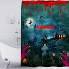 Halloween Series Waterproof Printing Shower Curtain for Bathroom Decoration Halloween - bloody hands_180*180cm