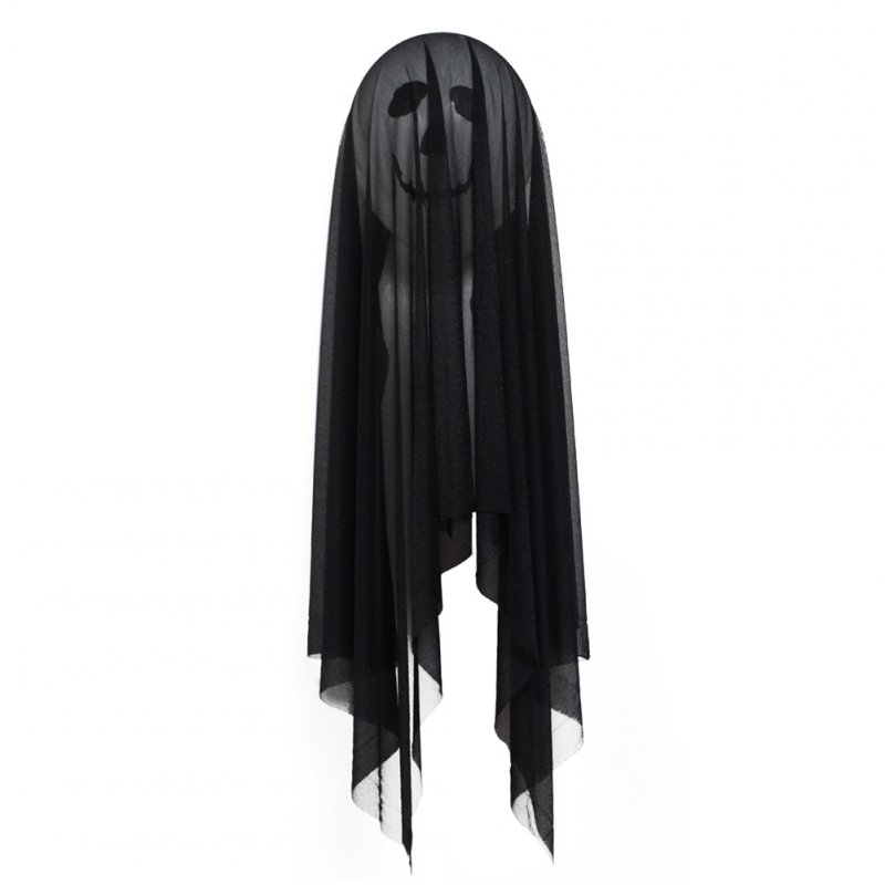 Halloween Skull Horror Spoof Balloon Ghost Festival Gauze Balloon Party Decoration Prop  Black (without balloon)