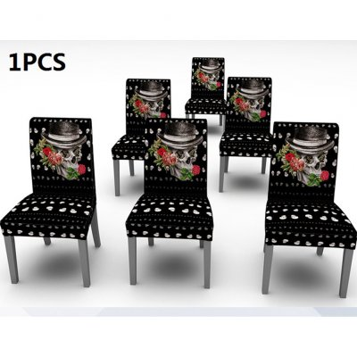 Pleasing Halloween Skull Pattern Printed Stretch Chair Cover Rectangle Table Cover For Home Dining Table Decor Chair Cover Is A Single Package Caraccident5 Cool Chair Designs And Ideas Caraccident5Info