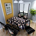 Halloween Skull Pattern Printed Stretch Chair Cover / Rectangle Table Cover for Home Dining Table Decor Tablecloth 150*260cm