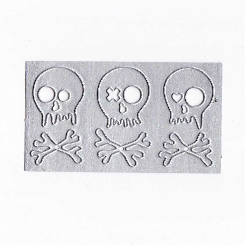 Halloween Skulls Metal Cutting Dies For Scrapbooking Stencils DIY Cards Album Decoration Embossing Folder Die Cuts 91x51mm