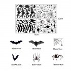 Halloween Spider Bat Pattern Electrostatic Film Wall Stickers for Window Glass Background Restaurant Decoration 50cm*70cm