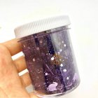 Hallowmas Sequins Crystal Slime Toy Squishy Stress Relief Kids Clay Toy Mud Plasticine Toy Purple 120ml
