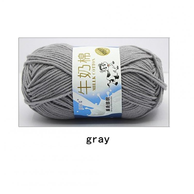 Hand Knitting Cotton Knitting Wool Doll Thread for Knitting Scarves Gloves Clothes gray
