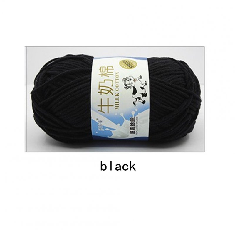 Hand Knitting Cotton Knitting Wool Doll Thread for Knitting Scarves Gloves Clothes black