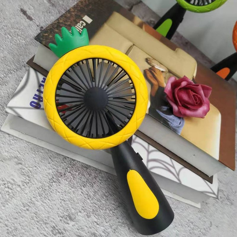 Handheld Fan USB Rechargeable Cooler with Night Light Table Desktop Cooling Fan yellow_19.5x9.5x4
