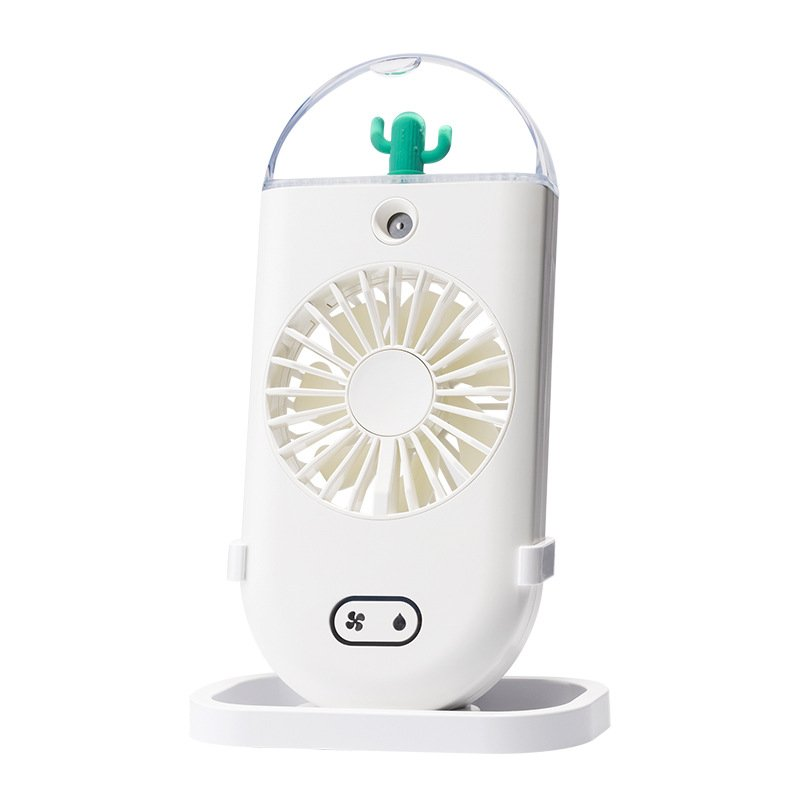 Handheld Water Spray Mist Fan USB Charging Air Cooling Mini Humidifier Fan for Student Outdoor white_Handheld spray fan