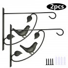 Hanging Plant Bracket Hook Iron Decorative Plant Hanger for Flower Basket Bird Feeder Lanterns 2pcs