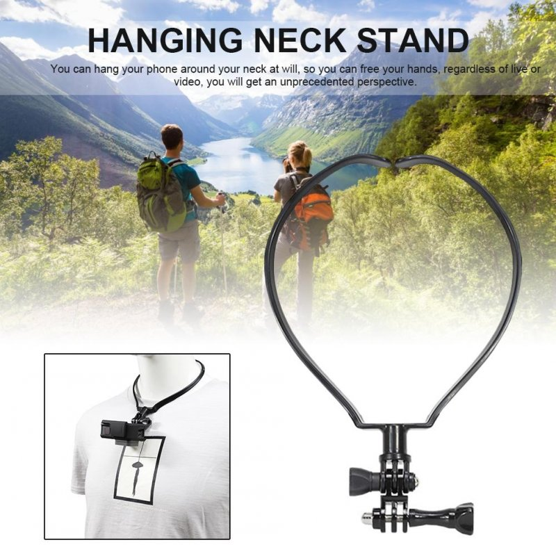 Hanging Stand Sports Camera Neck Chest Fixed Base Camera Accessories for Gopro black