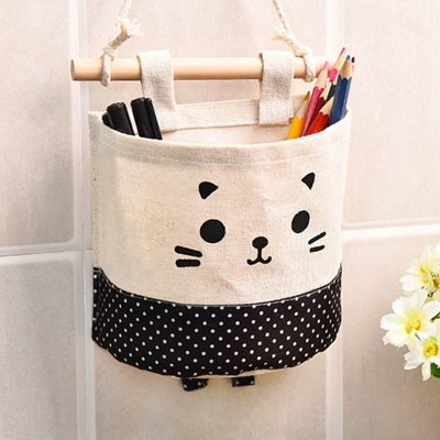 Hanging Storage Package Cute Pattern Single Pockets Storage Container Black and white dots