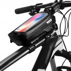 Hardshell Bicycle Front Bag Waterproof Mobile Phone Bag black_1L