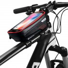 Hardshell Bicycle Front Bag Waterproof Mobile Phone Bag red 1L