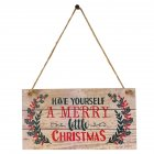 Have Yourself a Merry Little Christmas Wooden Plank Design Hanging Sign for Christmas Home Decor