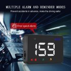 Head Up Display Auto HUD GPS Speedometer Digital Over Speed Alert Windshield Projetor Auto Navigation A5 white light