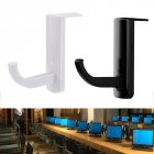 Headphone Headset Hanger Holder Mount Rack for PC Display Monitor white