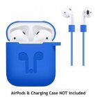 Headphone Silicone Protective Case Cover for Airpod Earphone Accessories  blueI0C4