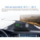 Heads Up Display unit connects to your vehicles OBDII and puts all the important information on your windshield where it s easy to read