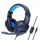 Headset Internet Bar Computer Game Electronic Sports PS4 Headset With Microphone Black and blue