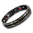 Health Care Magnetic Therapy Bracelet Health Energy Biomagnetic Men Adjustable Bracelet Black gold