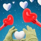 Heart  Shaped Snowball  Maker  Clip Winter Sand  Ball  Mold Clamp Kids  Toy Single love