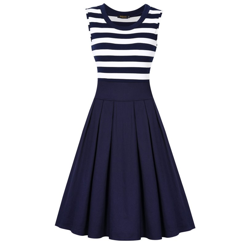 Women's Scoop Collar Business A-line Dress