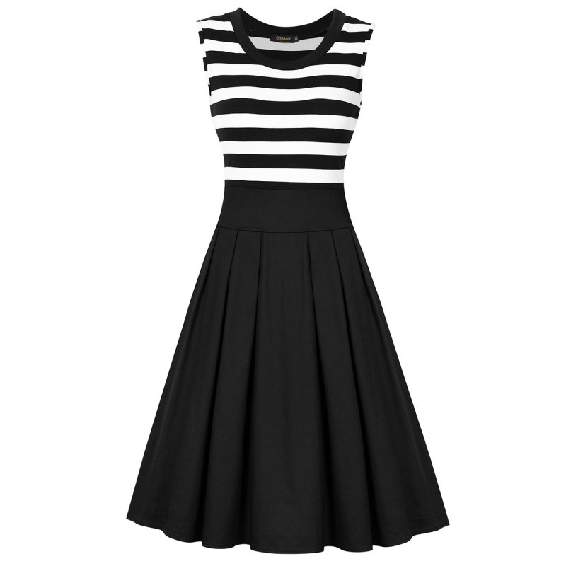 HiQueen Scoop Collar Elegant Dress