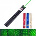 High Power Pointer Sight 303 LED Flashlight Cover Dots Flashlight with Charger Battery Gold_Green light