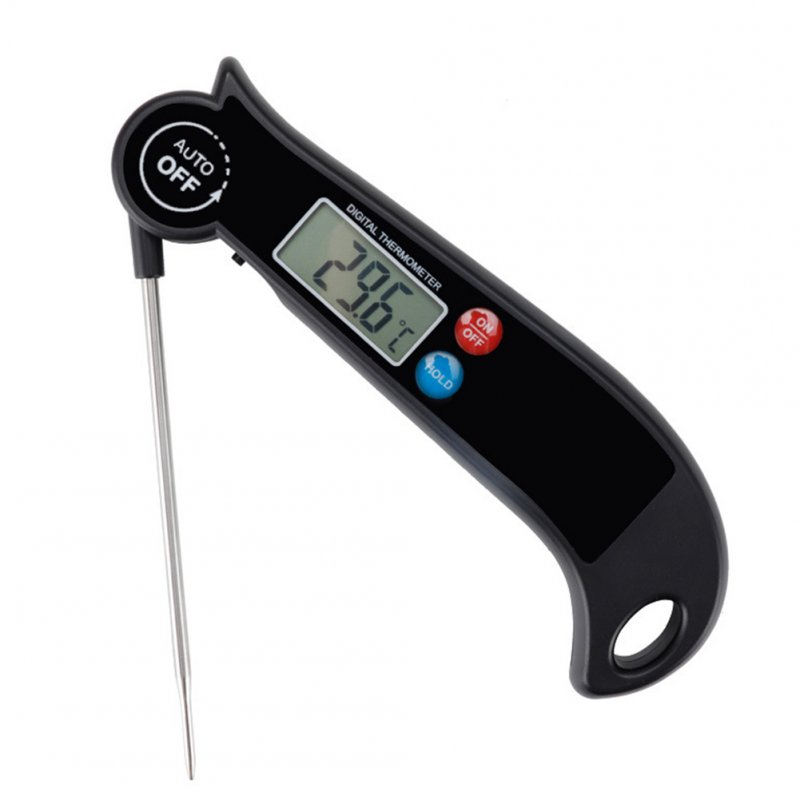 High Precision Digital Meat Thermometer Fast Instant Read Bbq Cooking Test black
