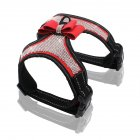 High Reflective Shiny Crystal Pet Pet Harness wirt Cute Bowknot for Outdoor Walking red_L