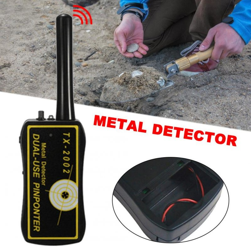 High Sensitivity Adjustable TX-2002 Handheld Metal Detector Long Range Diamond Archeological Gold Underground Metal Detector black