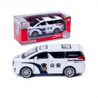 High Simitation 1:32 Police Car Model Children Vehicle Toy Alloy Metal Shell Pull Back Play Kids Birthday Gifts Home Car Decoration white