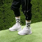 High Socks for Boys and Girls Street Style White None